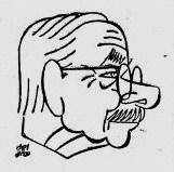 José Simont (caricature publiée dans La vanguardia espanola, 17 novembre 1957)