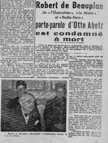 Journal Valmy (Moulins), décembre 1945