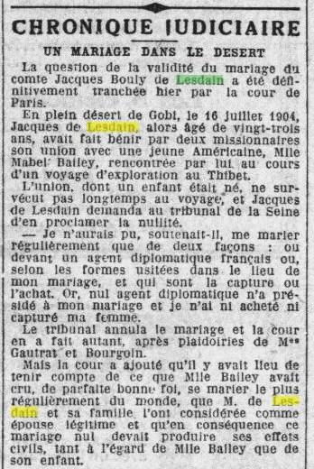 PETIT PARISIEN  DIVORCE JDL  9 JUILLET 1926