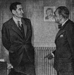 Philippe Henriot et Robert de Beauplan (à droite)