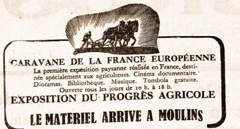 Caravane France Européenne Le Progrès 11 août 1942