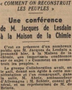 JDL - Paris Soir 17 février 1941