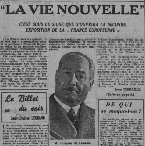 Paris Soir 10 décembre 1941