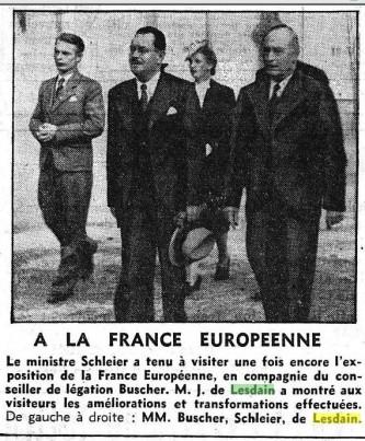 19- INAUGURATION FRANCE EUROPEENNE Le Matin 6 septembre 1941