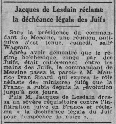 Paris Soir 24 janvier 1944
