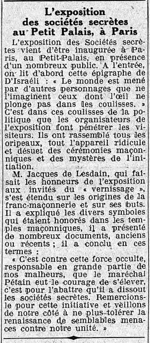 LE TEMPS 14 OCTOBRE 1940