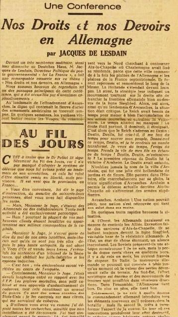 La France JDL 4 décembre 1944