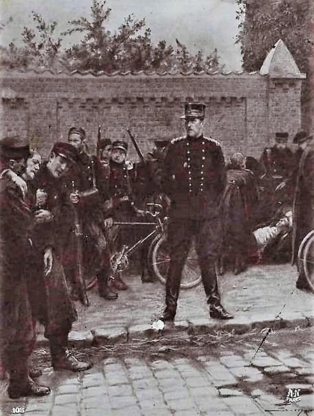 SIMONT Roi Albert au mlilieu de ses soldats