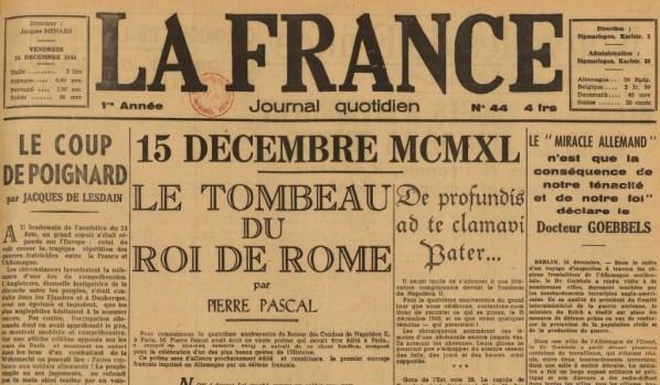 La France 15 décembre 1944 JDL