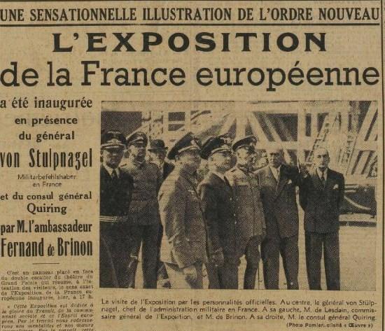 Inaug. France européenne L'Oeuvre 1er juin 1941