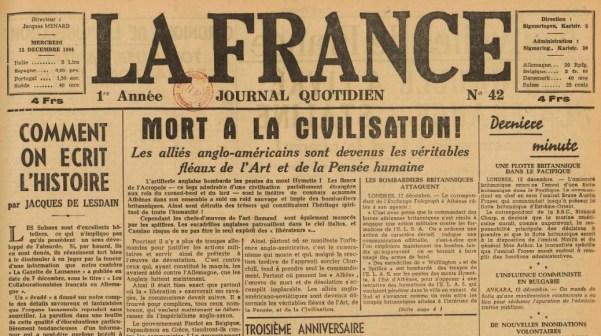 La France 13 décembre 1944 JDL