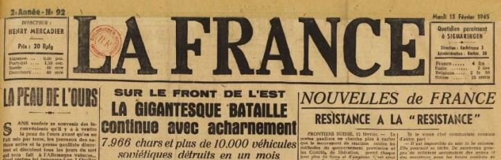 La France 13 février 1945 MERCADIER