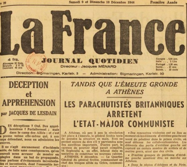 La France 9-10 décembre 1944 JDL