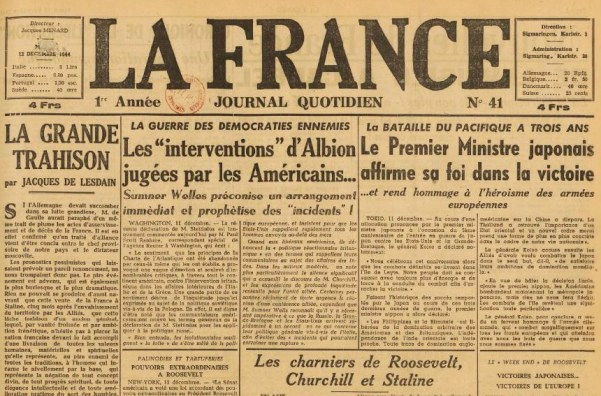 La France 12 décembre 1944 JDL