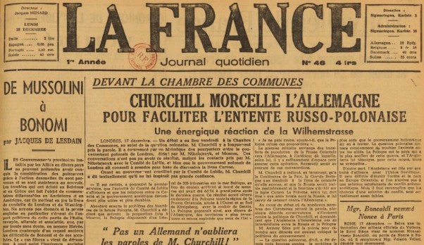 La France 18 décembre 1944 JDL