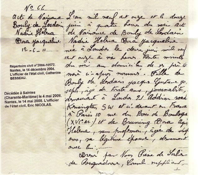 Acte naissance Nadine Bouly de Lesdain (3)
