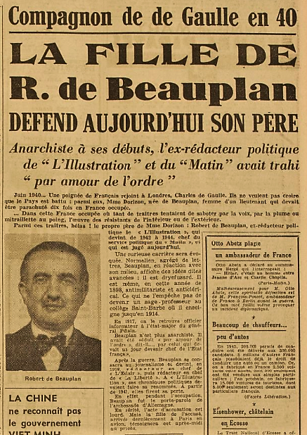 RDB France Soir 27 novembre 1945