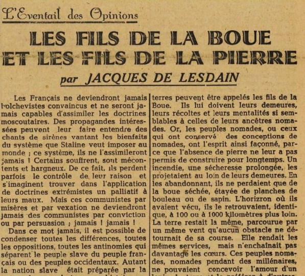 La France 24 janvier 1945 JDL