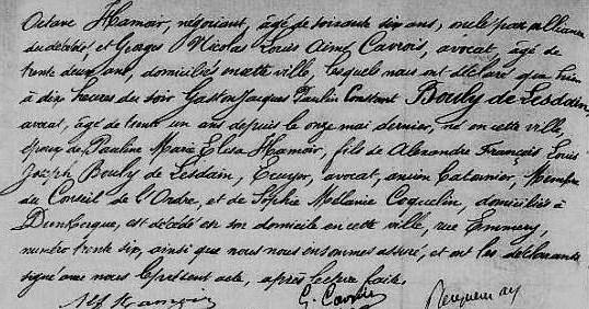 Acte de décès de gaston de Lesdain (octobre 1881)