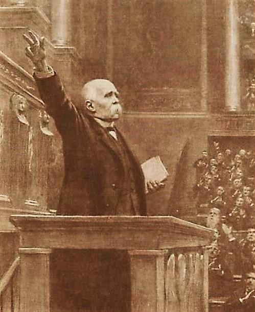 SIMONT Clemenceau à la tribune (2)