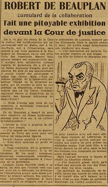 RDB Franc Tireur 27 novembre 1945