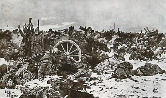 SIMONT Charge des cosaques de l'Oural