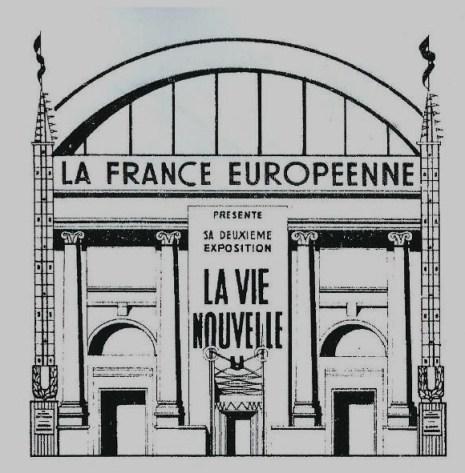 Entrée exposition Vie nouvelle Guide officiel 1942