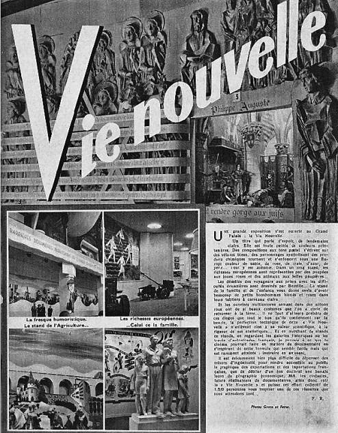 Expo Vie Nouvelle Cinemondial 22 mai 1942