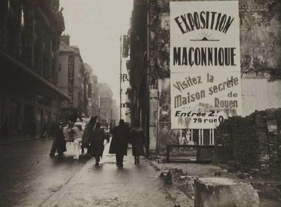 Exposition anti maçonnique Rouen Archives nationales