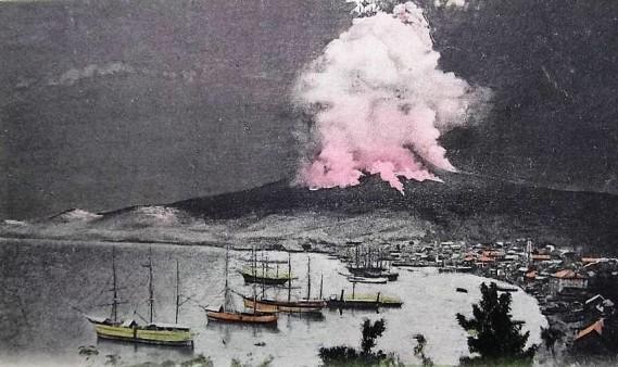 éruption montagne Péléé 7 mai 1902