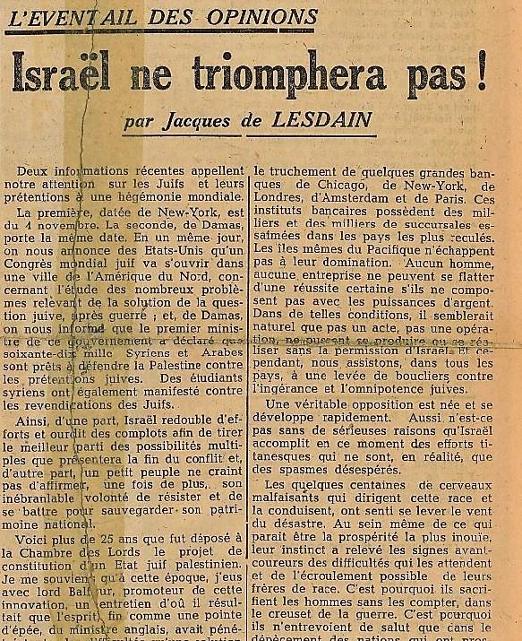 LA FRANCE Sigmaringen 10 novembre 1944 (3)