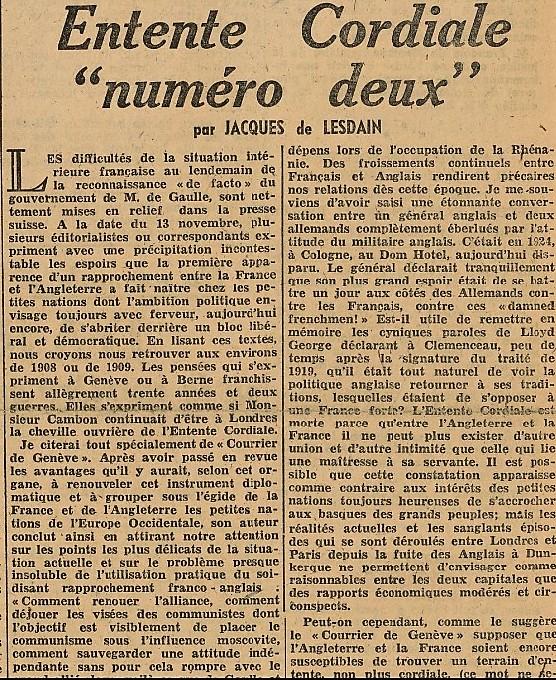 LA FRANCE Sigmaringen 20 novembre 1944 (2)