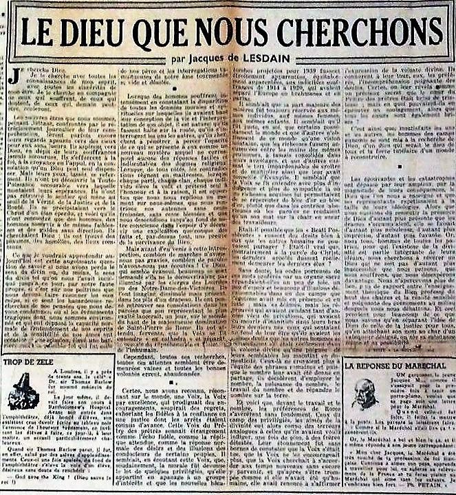 LESDAIN LA GERBE LE DIEU QUE NOUS CHERCHONS - Copie (2)