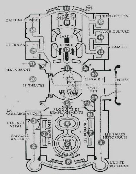 Plan exposition Vie nouvelle Guide officiel 1942