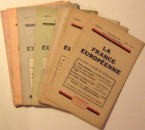 Revue La france européenne 1942