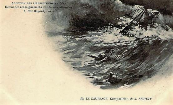SIMONT Le naufrage Orphelins de mer