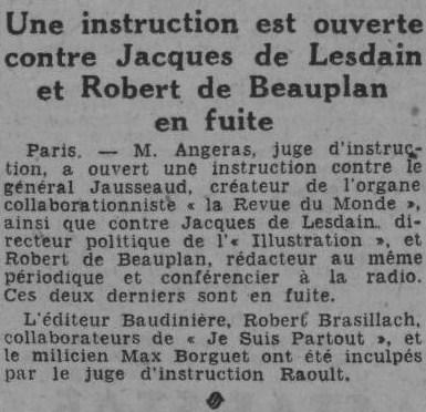 Echo d'Alger 15 octobre 1944