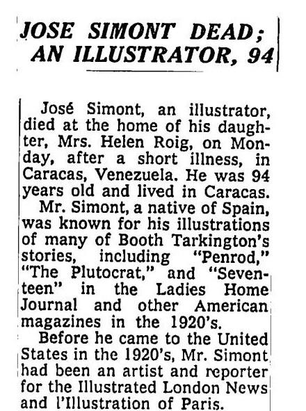 José SIMONT NYT 21 NOV. 1968