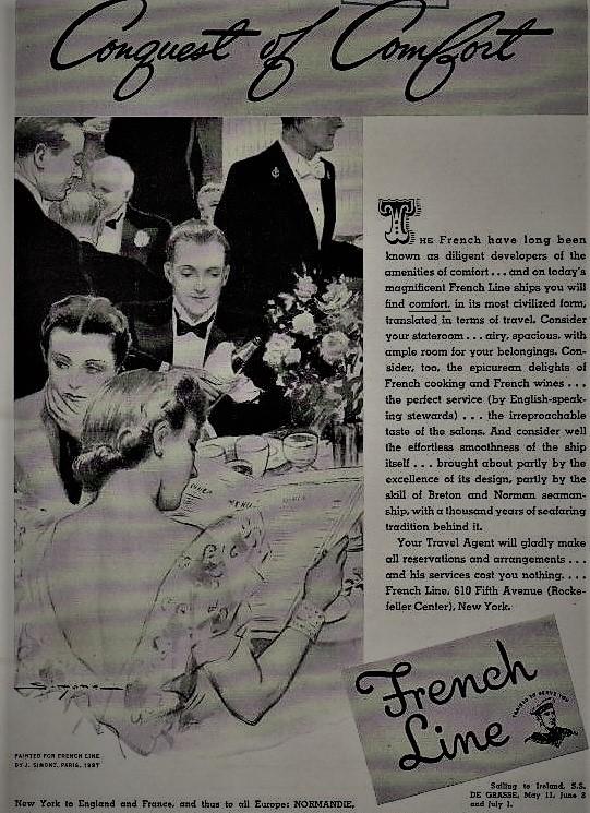 SIMONT Publicité French Line 1938