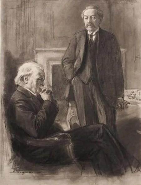Z SIMONT Aristide Briand et Lloyd George