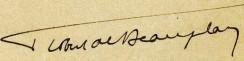 Autographe Robert de Beauplan 1914