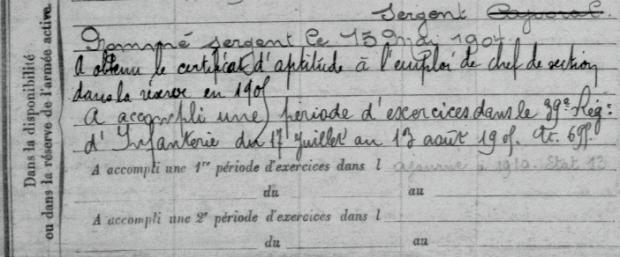avant 1914 RDB Etatas de services militaires 2 ADPT Versailles