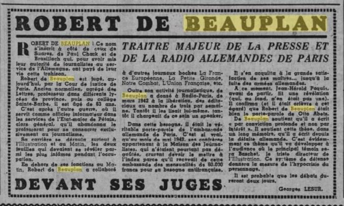 Ce Soir 27 novembre 1945