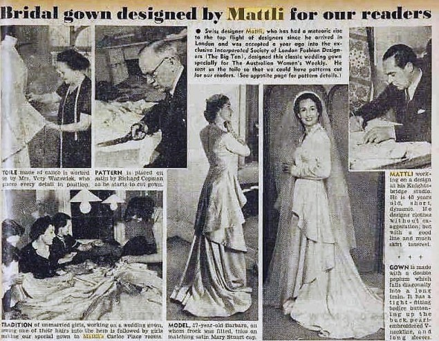 Mattli The australian women's Weekly 11 juin 1949
