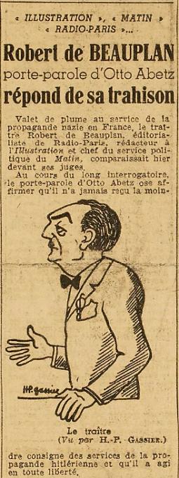 Procès RDB Humanité 27 nov 1945 - 1