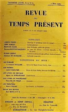 Revue du Temps présent 1909